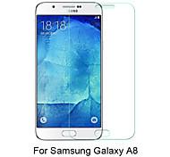 beittal® 0,26 mm abgerundete Kante transparent 9h vorgespanntes Glas-Membran-Schutzfolie für Samsung Galaxy A8 (5,7 Zoll)