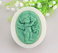 Angel baby Shaped  Soap Molds Mooncake Mould Fondant Cake Chocolate Silicone Mold, Decoration Tools Bakeware