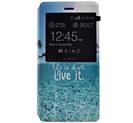 Tuta con supporto / con Windows Scenario Similpelle Difficile Copertura di caso per Huawei Huawei P8 Lite