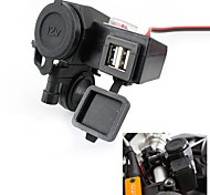 12V USB Cigarette Lighter Waterproof Power Port Outlet Socket Kit For Motorcycle