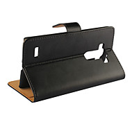 Other Plastic / Genuine Leather Full Body Cases / Cases with Stand Solid Color / Special Design case cover