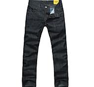 Lesmart Hommes Droite Pantalon Noir - MDMK3225