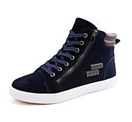 Черный Синий Красный-Мужской-Для офиса Повседневный Для занятий спортом-Дерматин-На плоской подошве-Удобная обувь Оригинальная обувь
