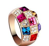 Midi Rings Crystal Cubic Zirconia Rhinestone Alloy Fashion Classic Luxury Jewelry Rainbow Jewelry Party 1set