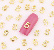 200PCS Lovely Wedding Nail Art Nail Jewelry Nail Decorations Gold Toe Finger Alloy for Aryclic Nail Tips Decorations
