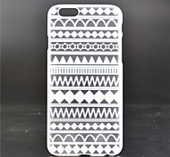 Checkered Stripes Pattern PC Material Phone Case for iPhone 6