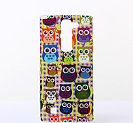 Yellow Background Owls Pattern TPU Soft Case for LG Spirit H440N/H422/H502