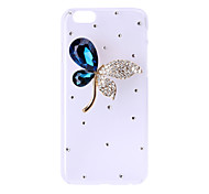 DIY Special Design Maple Leaves Drill Diamond Ultra-Slim Plastic Cellphone Case for iPhone 6