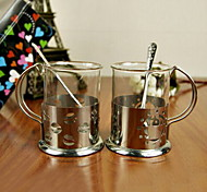 Fashion Stainless Steel/Glass High-grade Gift Cup Sets