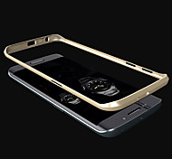 For Samsung Galaxy Case Plating Case Bumper Case Solid Color Metal Samsung S6 edge