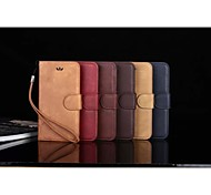 Simple pattern luxury leather PU for iphone6 plus with free shipping