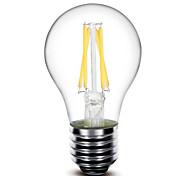 1 pc E26 / E27 4 w 4 cob 400 lm bianco caldo g principale dimmable filamento lampade AC 220-240 / 110-130 ac v