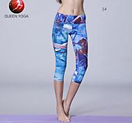 Pantaloni da yoga Leggings / Pantaloni / Pantalone / 3/4 Collant / Semi-lungo wicking / Compressione / Materiali leggeri Cadente Elastico