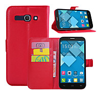 Wallet Flip PU Leather Cell Phone Case Cover For Alcatel One Touch Pop C5/Alcatel One Touch Pop C7/Alcatel Pop C9