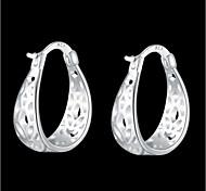 925 Silver Plated Pierced Earrings