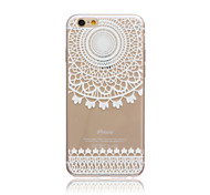 White Wind chime Style Transparent Soft TPU Back Cover for iPhone 5C