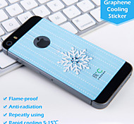 Snow Flower Diamond Graphene Cooling Blue Phone Sticker for Iphone5 5S Protect Pregnant Woman from Radiation