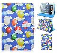 blauen Ballon um die Öffnung mit Ständer Schutzhülle für iPad 4/3/2