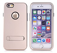 High Quality 3 in 1 Hybrid TPU+PC with Stand Back Cover for iPhone 6 plus/6s plus (Assorted Colors)