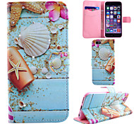Ocean  Pattern With Diamond PU Leather Phone Case For iPhone 6