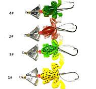 """Cucchiai 6 g / 1/4 Oncia mm / 3-1/2"""" pollice 4 pc Pesca di mare / Pesca dilettantistica , Colori assortiti Metallo"""