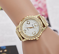 moda genebra amantes mulheres se vestem relógios de quartzo analógico aço completo senhoras digitais ouro strass relógios de pulso