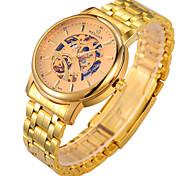 Men's Watch High - Grade Men Steel Belt Gold Automatic Mechanical Waterproof Gold Watch Cool Watch Unique Watch