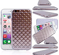 Diamond pattern TPU Back Cover Case for iPhone 6