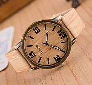 Women's Men's Fashion Wood Style Casual Wrist watch