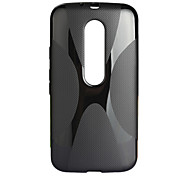 """""""X"""" Style Protective TPU Back Case for MOTO G3 / G 2015 - Black"""