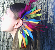 Feather Earcuff  Color feather ear cuff, feather earring, free people, Native american  Indian Boho