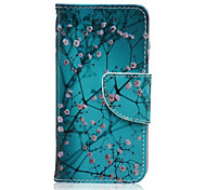 Apricot Tree Pattern PU Leather Full Body Case with Screen Protector And Stand for iPod Touch 5/Touch 6