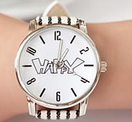 Woman Fashion Leather DINIHO Quartz Wrist Watch
