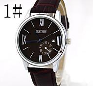 unisex negócio da moda relógio cinto impermeável relógio calendário