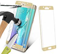 angibabe® 0.3mm tapa pantalla protector de pantalla de cristal templado de colores para el borde samsung galaxy s6 plus g9280
