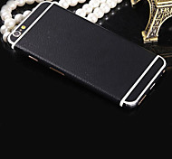 Pure Black Leather Pattern Full Body Film Decal Sticker Guard for iPhone 4/4S