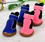 Dog Socks & Boots Winter - Blue / Pink - Wedding / Cosplay - PU Leather