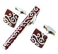 Fashion cufflinks wine red