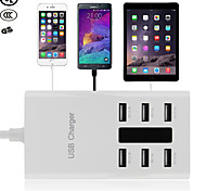 6 Port USB Desktop Rapid Charger/Portable Travel USB Charger