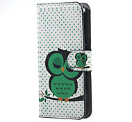 For Acer Z410 Cover Green Owl Pattern Leather Wallet Flip Stand Case Acer Liquid Z410 Cell Phone Cases
