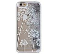 sable blanc pissenlit cas de téléphone portable pour iphone5c