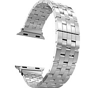 2015 venta caliente hoco r de cinco cordón de acero inoxidable hebilla clásica reemplazo correa para el reloj de manzana 38mm 42mm