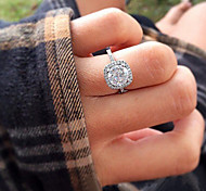 Women's Luxury Square Diamonds Simulator Engagement Ring