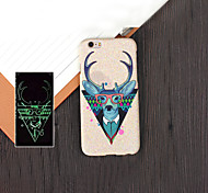 Ultra-thin Monster 2 Pattern Luminous Embossed Feel Phone Back Cover Protective Shell/Skin for iPhone 6 4.7 inch