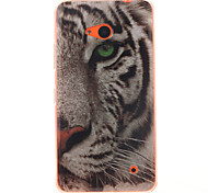 White Tiger Pattern TPU + IMD Phone Case For Nokia N640