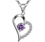 WH Woman Heart Love Necklace