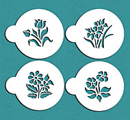 Small Botanical Flowers Cookie Stencils,Cake Stencils Decoration,Tools for Fondant,ST-583