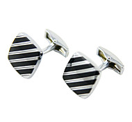 Black squares cuff links