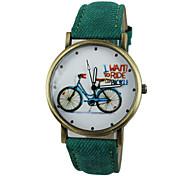 unisexe circulaire montre-bracelet de mode de quartz (couleurs assorties)