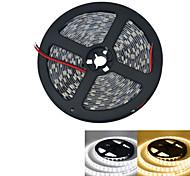 JIAWEN® 5 M 300 5050 SMD Blanco cálido / Blanco Cortable / Conectable 60 W Tiras LED Flexibles DC12 V